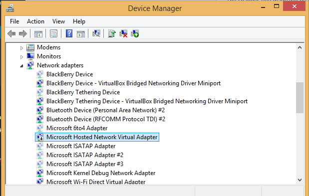 Turn your windows pc into a Wi-Fi hotspot without any software error 2 resolved