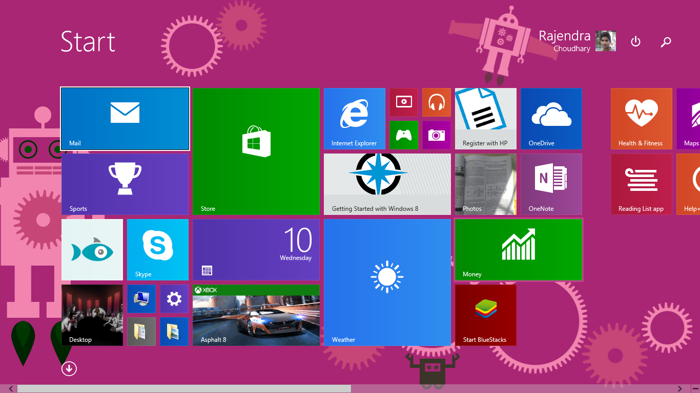 How to change start menu icons customize in windows 8 for How to design windows