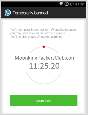 Temporarily banned from WhatsApp [Resolved] pic